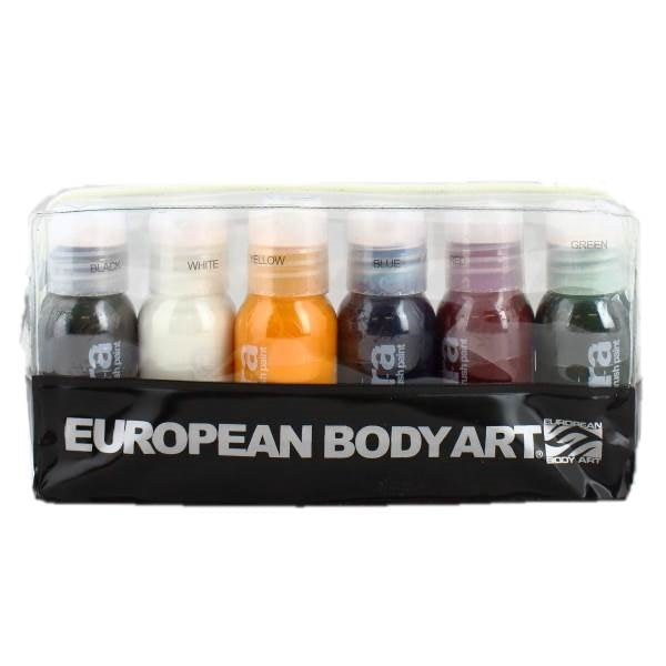 Endura Alcohol-Based Airbrush Body Paint - 6 Color Primary Kit - 1oz Bottles - Jest Paint Store