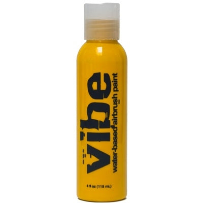 VIBE Water Based Airbrush Body Paint - Fluoro Yellow - 4oz - Jest Paint Store