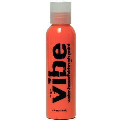 VIBE Water Based Airbrush Body Paint - Fluoro Orange - 4oz - DISCONTINUED - Jest Paint Store
