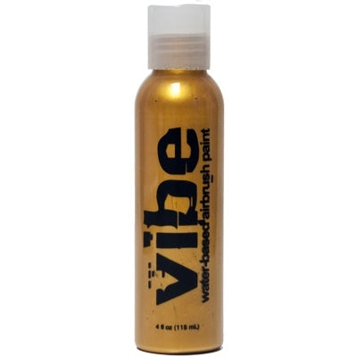 VIBE Water Based Airbrush Body Paint - Metallic Gold - 4oz - DISCONTINUED - Jest Paint Store