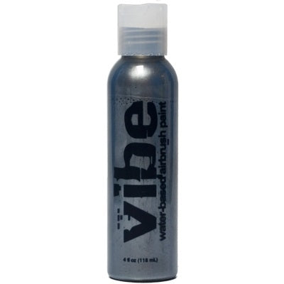 VIBE Water Based Airbrush Body Paint - Metallic Silver - 4oz - Jest Paint Store