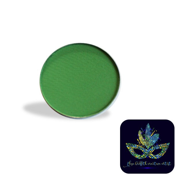 Color Me Pro Face Painting Powder by Elisa Griffith | Matte Cloverleaf Green (3.5 gr)