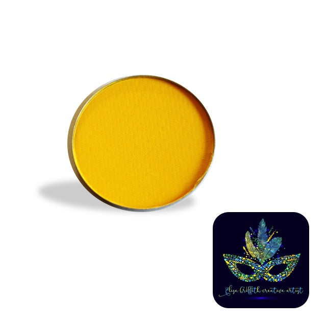 Color Me Pro Face Painting Powder by Elisa Griffith | Matte Sunshine Yellow (3.5 gr)