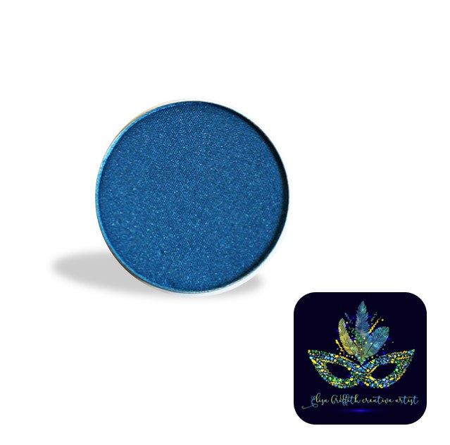 Color Me Pro Face Painting Powder by Elisa Griffith | Shimmer Electric Dark Blue (3.5 gr)