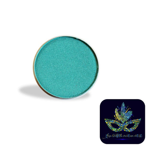 Color Me Pro Face Painting Powder by Elisa Griffith | Shimmer Sparkly Aqua Turquoise (3.5 gr)