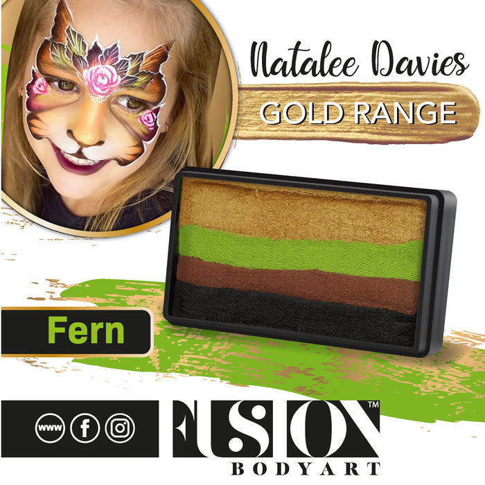 Fusion Body Art Face Paint - Split Cake | Natalee Davies Gold Range - Fern 30gr - Jest Paint Store