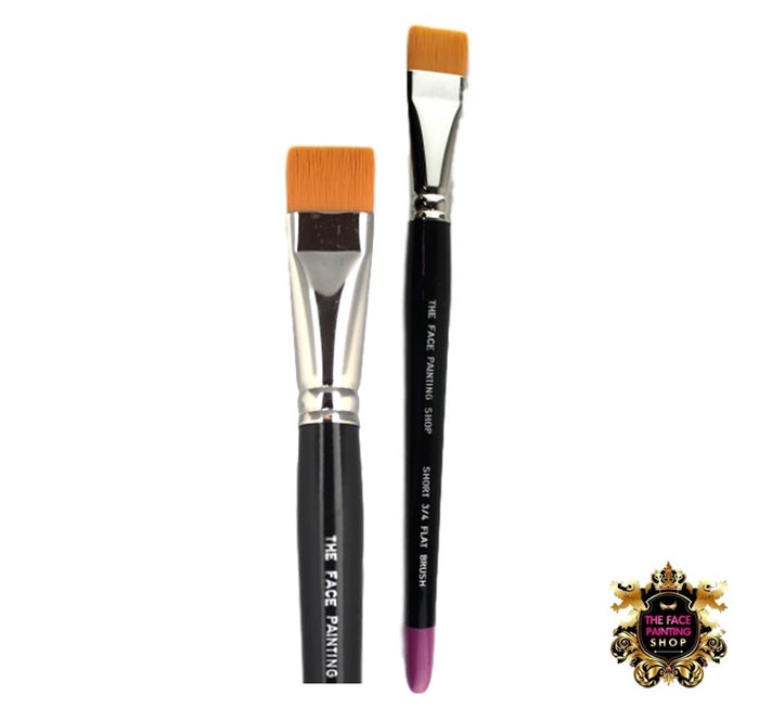 "The Face Painting Shop Brush - 3/4"" Short FLAT - Jest Paint Store"