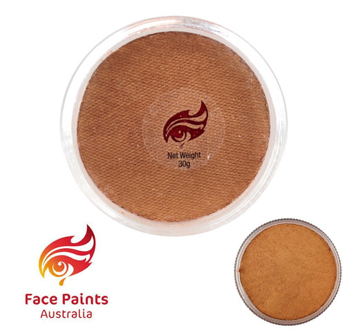 Face Paints Australia Face and Body Paint | Metallix Golden Bronze - 30gr