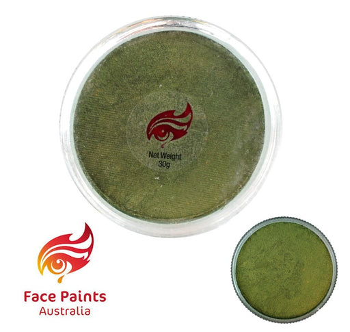 Face Paints Australia Face and Body Paint | Metallix Olive (Green) - 30gr