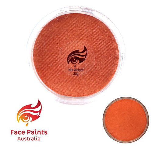 Face Paints Australia Face and Body Paint | Metallix Orange - 30gr