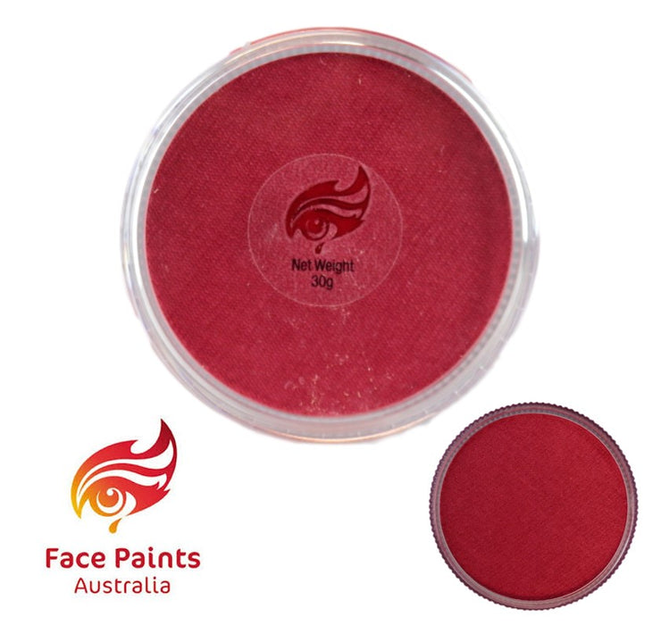 Face Paints Australia Face and Body Paint | Metallix Vibrant Red - 30gr - Jest Paint Store