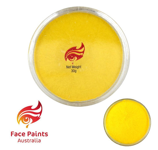 Face Paints Australia Face and Body Paint | Metallix Yellow - 30gr
