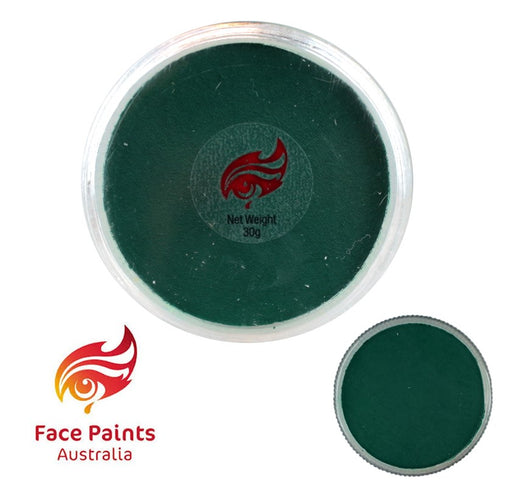 Face Paints Australia Face and Body Paint | Essential Green Dark - 30gr - Jest Paint Store
