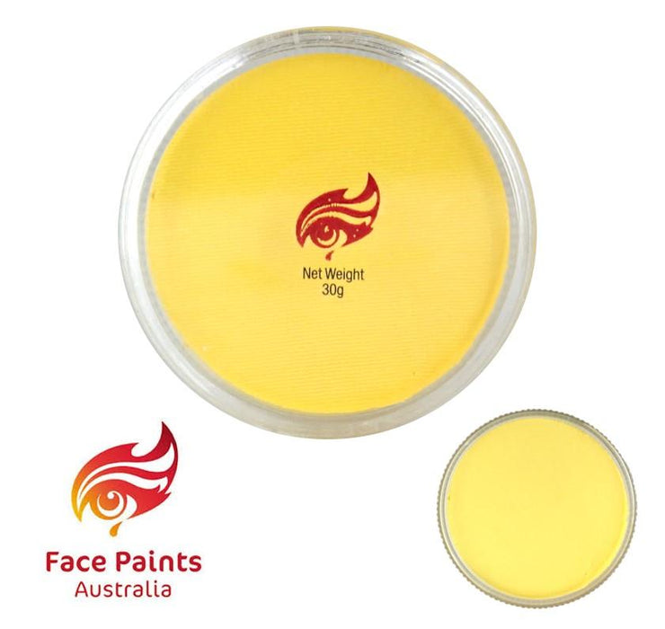 Face Paints Australia Face and Body Paint | Essential Chiffon ( Light Yellow) - 30gr
