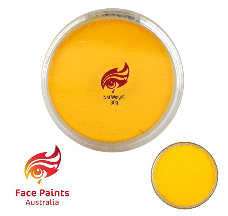 Face Paints Australia Face and Body Paint | Essential Yellow - 30gr