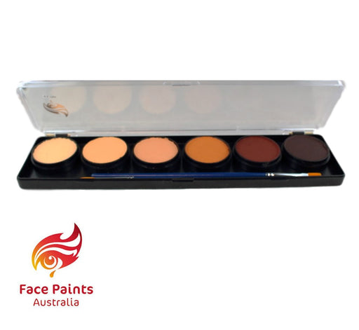 Face Paints Australia Face and Body Paint | Skin Tone 6 Color Palette