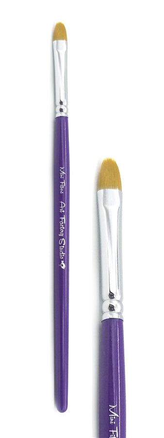 Art Factory Studio Face Painting Brush - Mini Filbert