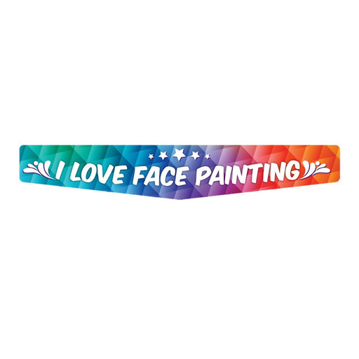Sticker for Face Painting Shield and Kits - I Love Face Painting