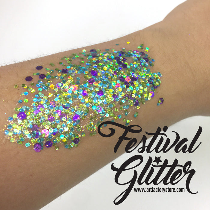 Festival Glitter - Chunky Glitter Gel - Mermaid -  1.5 oz swatch