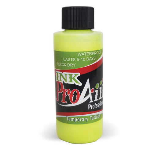ProAiir INK Alcohol-Based Airbrush Body Paint 2oz - Flo Yellow - Jest Paint Store