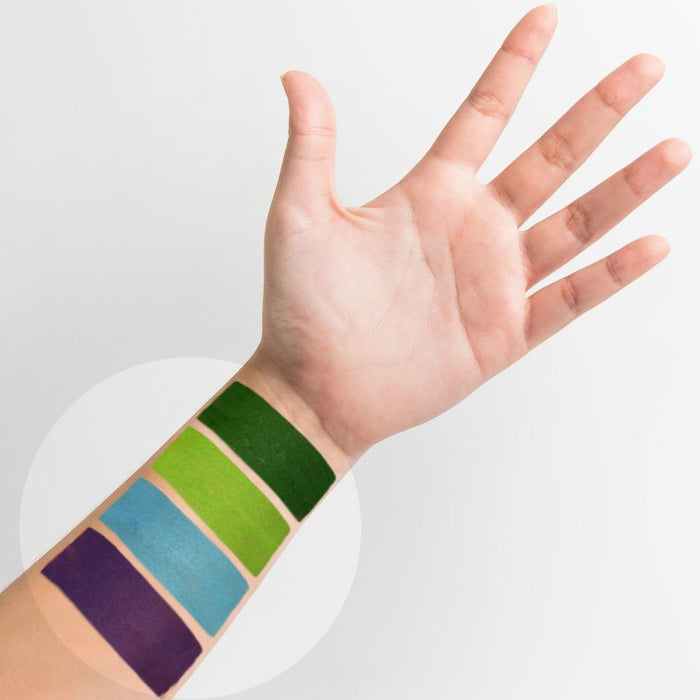 Kraze FX Face and Body Paints | Fundamental Small 12 Color Palette ( 6 grams each ) SWATCH