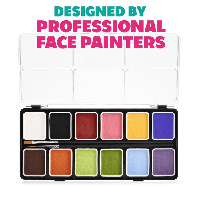 Kraze FX Face and Body Paints | Fundamental 12 Color Palette 2
