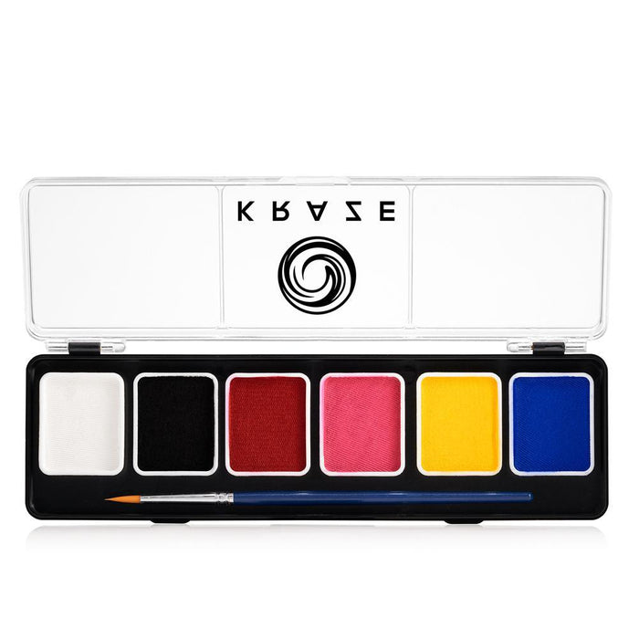Kraze FX Face and Body Paints | Fundamental Small 6 Color Palette ( 6 grams each )