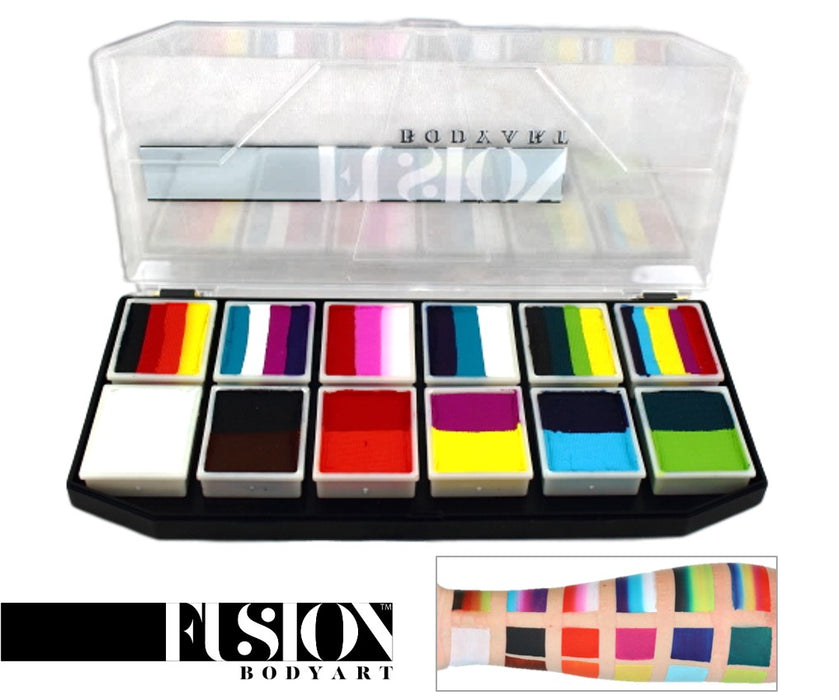 Fusion Body Art  - Spectrum Face Painting Palette | Carnival Kit - Jest Paint Store