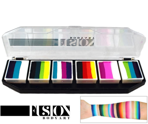 Fusion Body Art  - Spectrum Face Painting Palette | Rainbow Burst