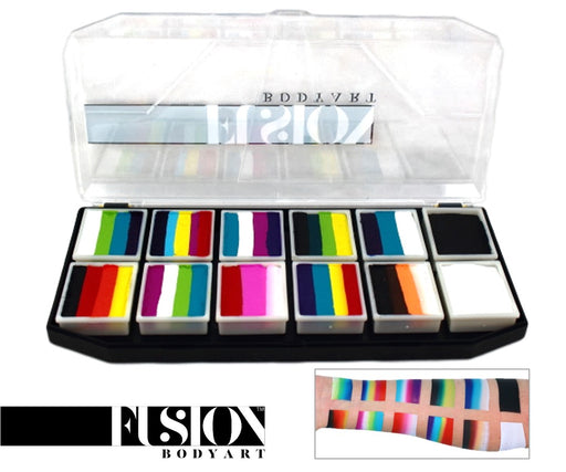 Fusion Body Art  - Spectrum Face Painting Palette | Rainbow Explosion