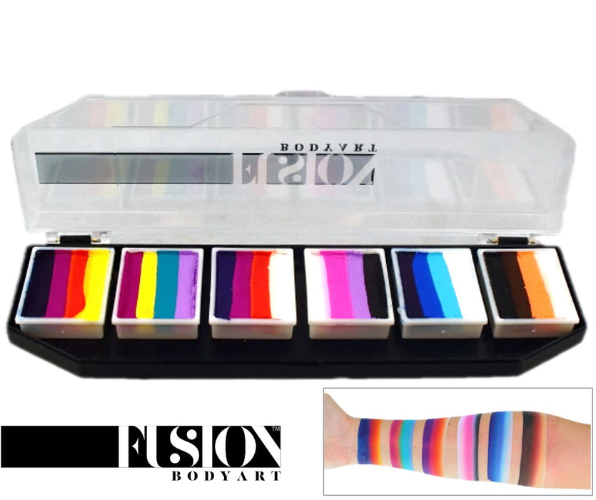 Fusion Body Art  - Spectrum Face Painting Palette | Rainbow Splash