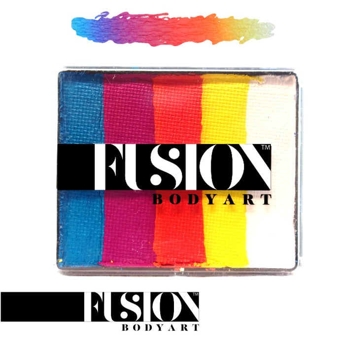 Fusion Body Art Face Paint - Rainbow Cake | Summer Sunrise 50gr by Jest Paint - Jest Paint Store