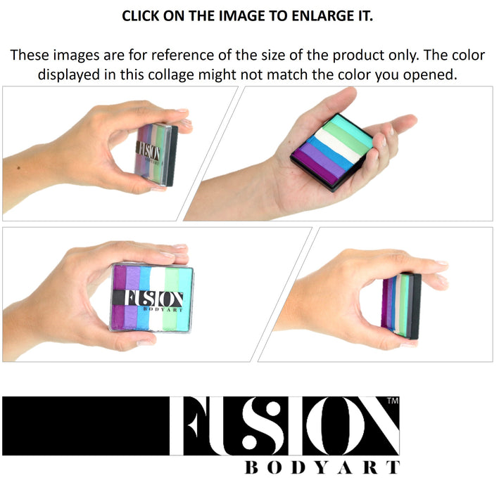 Fusion Body Art Face Paints Size Chart - Rainbow Cakes