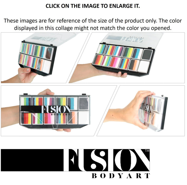 Fusion Body Art Face Paints Size Chart - Spectrum Palettes 12 Colors