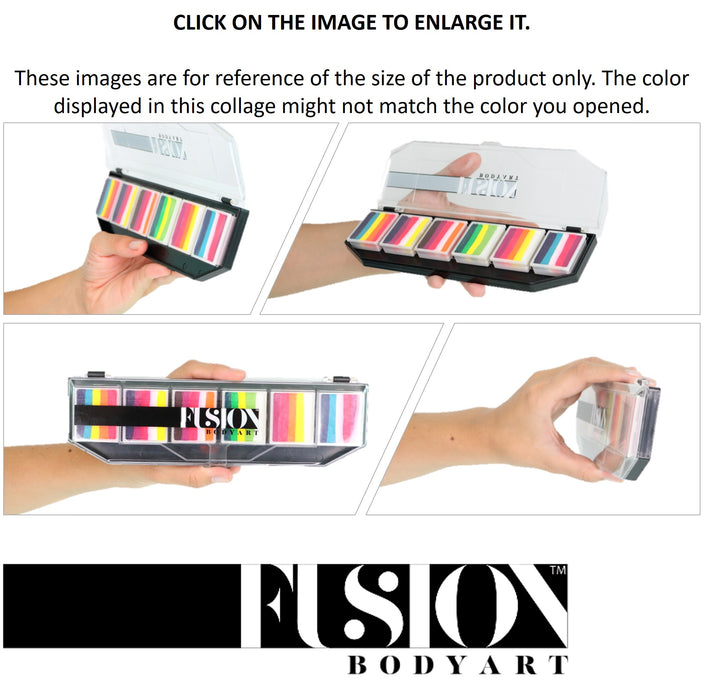 Fusion Body Art Face Paints Size Chart - Spectrum Palettes 6 Colors