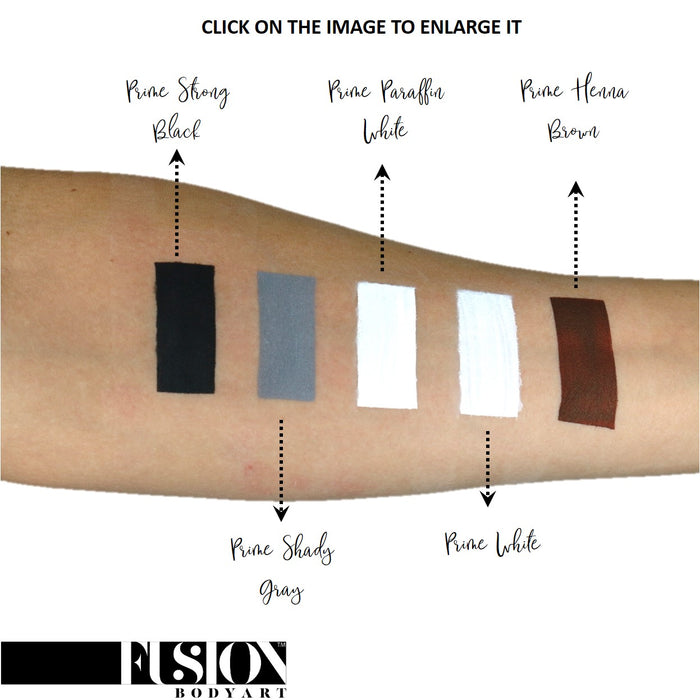 Fusion Body Art Face Paint - Prime Strong Black 32gr SWATCH