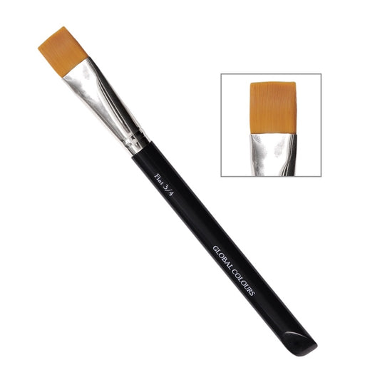"Global Body Art Face Painting Brush - 3/4"" FLAT - Jest Paint Store"