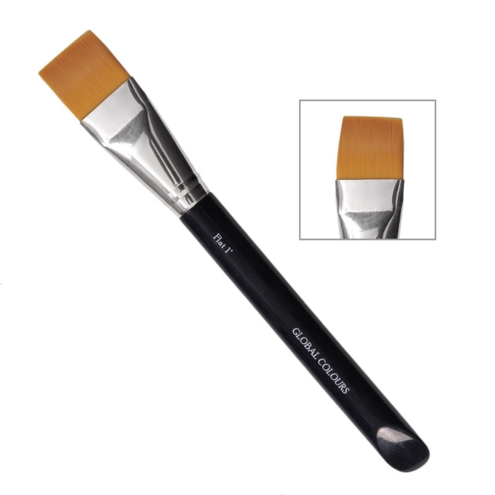 "Global Body Art Face Painting Brush - 1"" FLAT - Jest Paint Store"