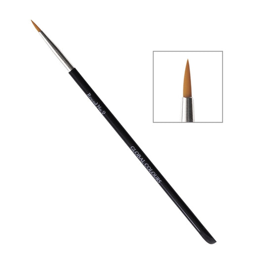 Global Body Art Face Painting Brush - Round #2 - Jest Paint Store