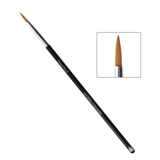 Global Body Art Face Painting Brush -Round #4 - Jest Paint Store