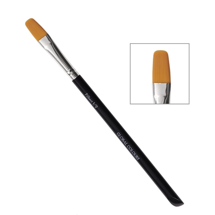 "Global Body Art Face Painting Brush - 1/2"" Filbert - Jest Paint Store"