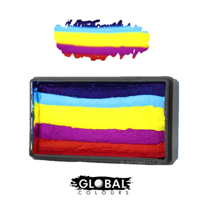 Global Body Art Face Paint - Fun Stroke Leanne's Rainbow - Jest Paint Store