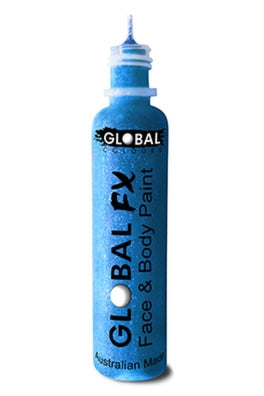 Global FX Face Painting Glitter Gel - Aqua Blue 36ml/1.2oz - Jest Paint Store