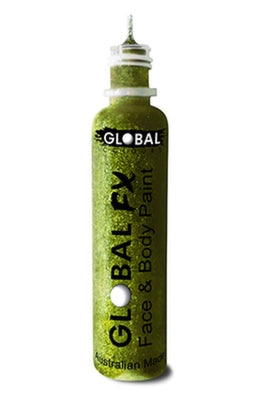 Global FX Face Painting Glitter Gel - Lime Green 36ml/1.2oz - Overstock Sale! - Jest Paint Store