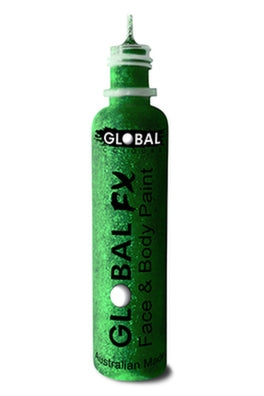 Global FX Face Painting Glitter Gel - Emerald Green 36ml/1.2oz - Jest Paint Store