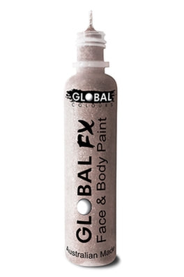 Global FX Face Painting Glitter Gel - Crystal White 36ml/1.2oz - Jest Paint Store
