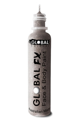 Global FX Face Painting Glitter Gel - Silver 36ml/1.2oz - Jest Paint Store