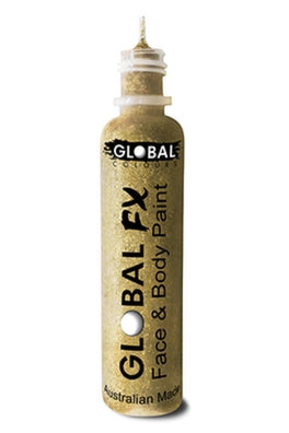 Global FX Face Painting Glitter Gel - Soft Gold 36ml/1.2oz - Jest Paint Store