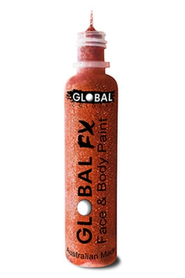 Global FX Face Painting Glitter Gel - Iridescent Red 36ml/1.2oz - Jest Paint Store