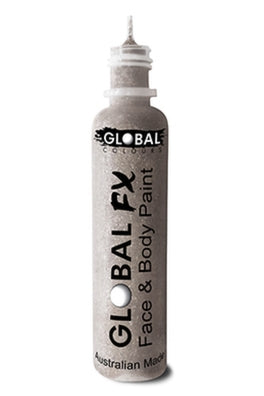 Global FX Face Painting Glitter Gel - Holographic Silver 36ml/1.2oz - Jest Paint Store